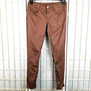 American Eagle Jegging Ankle Stretch Brown Low